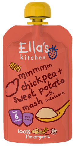 Chickpea & Sweet Potato Mash with Sweetcorn