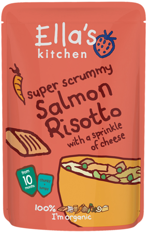 super scrummy Salmon Risotto with a Sprinkle of Cheese