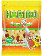 HARIBO HALAL SOUR COLA BOTTLES