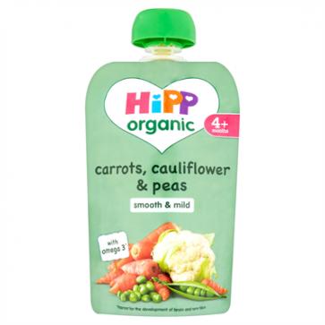 Carrots, Cauliflower & Peas